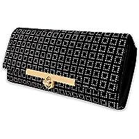 ALSU Women's Black Hand Clutch Wallet Purse(LDU-012BW)