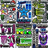 * 6 BLATT AUFKLEBER VINYL nTV/ MOTOCROSS STICKERS BMX BIKE PRE CUT STICKER BOMB PACK METAL ROCKSTAR ENERGY SCOOTER