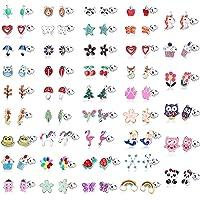 LOLIAS 42 Paia Acciaio Inossidabile Ragazze Bambini Orecchini Donna Assortiti Animali Orecchini Fiore Frutta Orecchini…