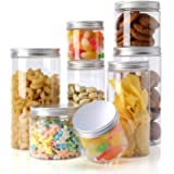 Topmener Storage Jars Plastic Jars with Lids kitchen Food Storage Jars Containers Airtight with Labels for Dry Food Tea Coffe