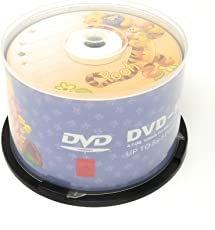 HMI Licensed Disney Winnie The Pooh Character 4.7 GB DVD-R Media Pack of 50 Pieces