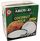 AROY-D Kokosmilch (mit E435 - Fettgehalt ca. 19% - Ideal zum Kochen, Backen, für Desserts und Cocktails) 6er Vorteilspack à 150 ml