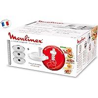 Moulinex Découpe-Légumes XF383110 Accessoire Companion Officiel Râpe Tranche Compatible avec Tous les Robots Cuisine…