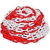 vidaXL Chaîne de signalisation en Plastique Rouge et Blanc de 30 m Diamètre de 6 mm