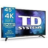 4K UHD Android 9.0 HBBTV 1300 PCI Hz 3X HDMI 2X USB DVB-T2/C/S2 hotelmodus TD Systems K45DLJ12US