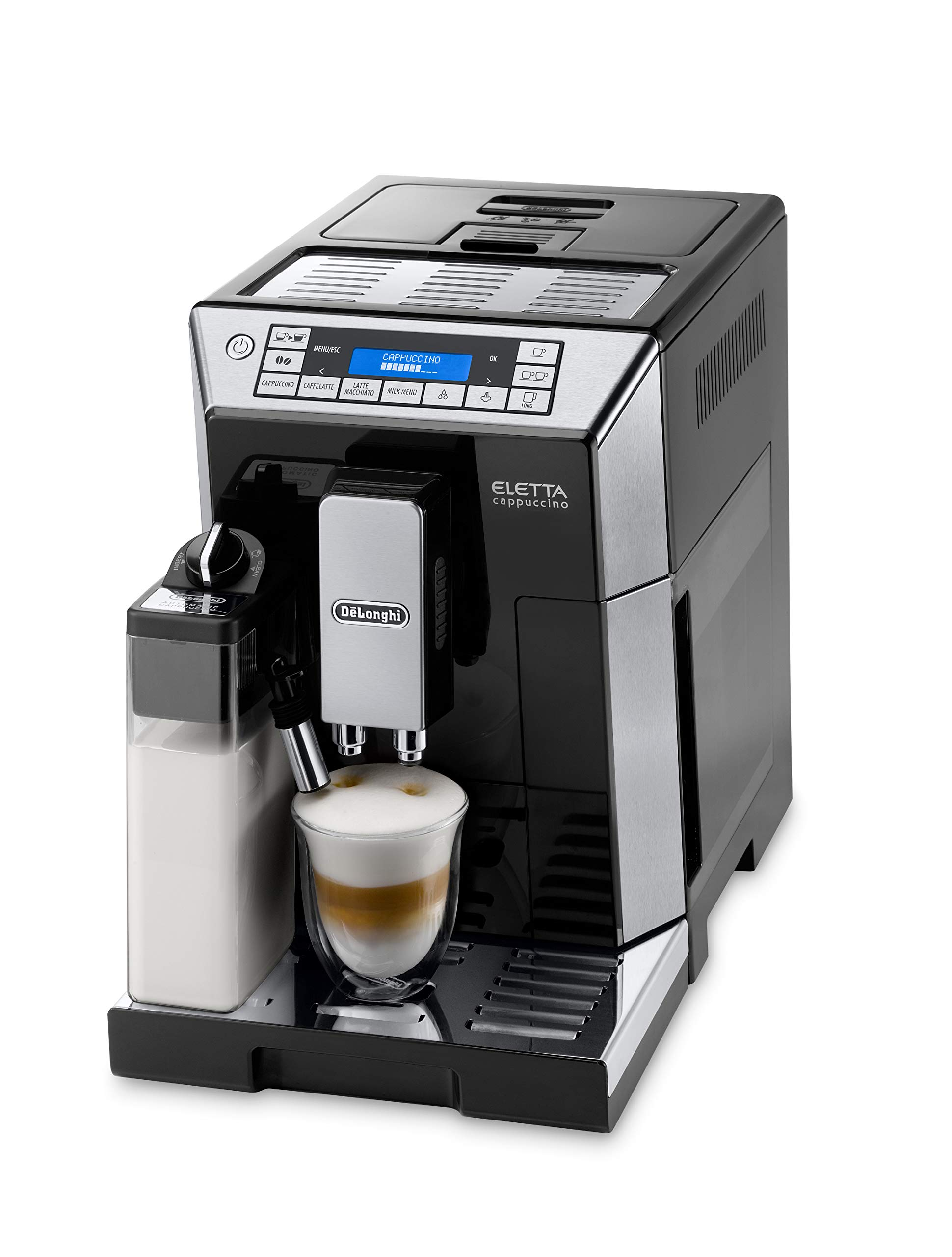 De'Longhi ECAM 45.766.B Eletta Cappuccino Kaffeevollautomat (Milchsystem), schwarz