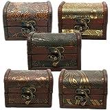 Collier Boucles d'oreilles Bracelet de stockage boîte à bijoux en bois rétro vintage Coque