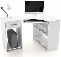 Schon CARO Möbel Schreibtisch Silvia Eckschreibtisch Computertisch Mit  Tastaturauszug, 117 X 74 X 78 Cm