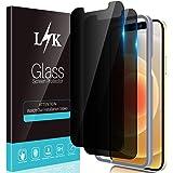 L🌻K 2-pack integritetsskärmskydd kompatibelt med iPhone 12 och iPhone 12 Pro 5G 6,1 tum – härdat glas HD klar 9H hårdhet bub