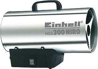 Einhell Gas Heizgebläse HGG 300 Niro (Heizleistung bis 30 kW, 500 m³/h Luftdurchsatz, für handelsübliche Gasflaschen, rostfreies Stahlblech Gehäuse, Piezozündung, Druckregler)