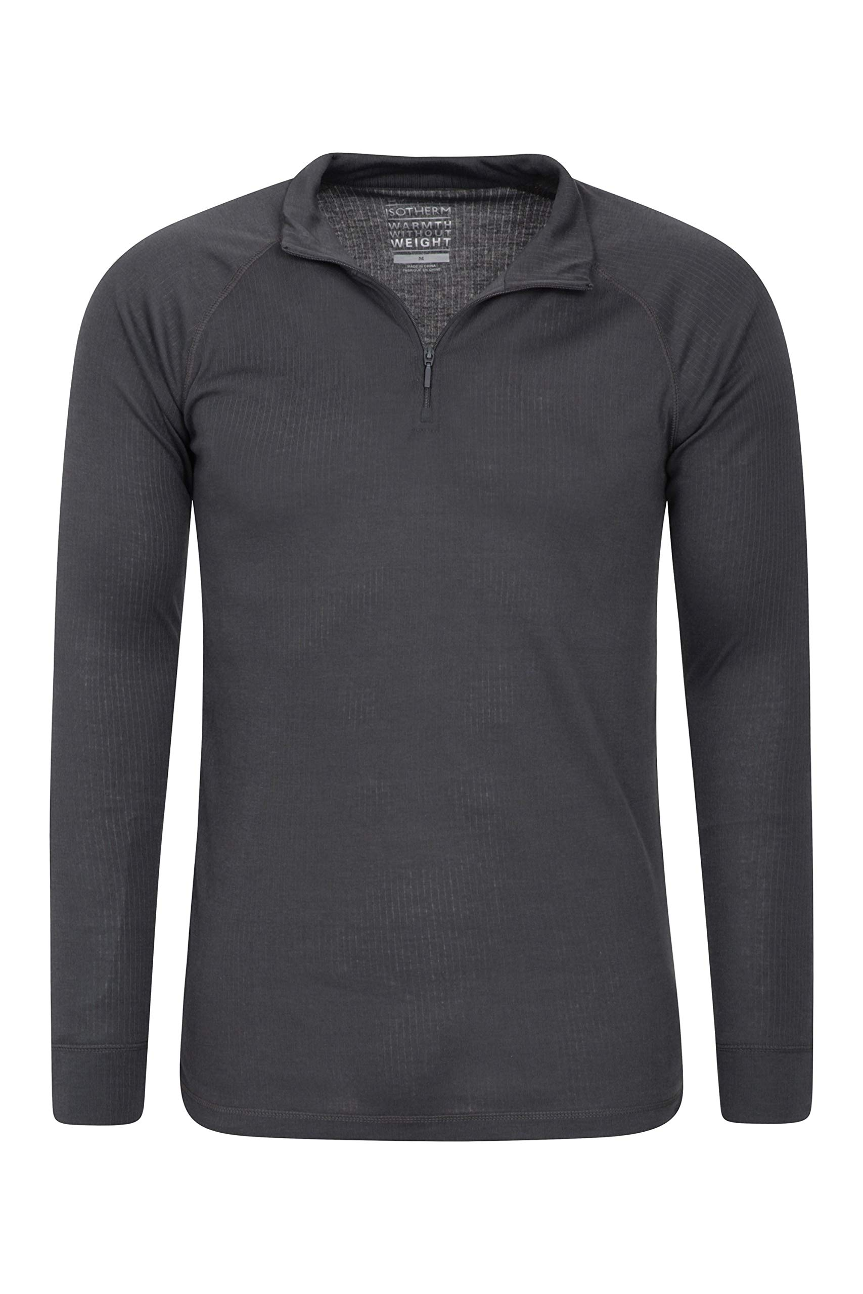 Mountain Warehouse Talus Mens Thermal Baselayer Top - Long Sleeve Sweater, Zip Neck, Quick Drying Pullover, Breathable, Lightweight - Great for Winter, Travelling 4