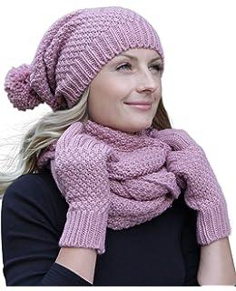 In EU Hergestellt Vivisence Dame Winter M/ütze Kopfbedeckung Winter Warm Dick Gemustert 7017