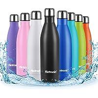 flintronic Portatile Borraccia, 500ML Termica Bottiglia Acciaio Inox Bottiglia Acqua d'Acqua Sportive Coppa da Viaggio…