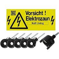 Koll Living 10154 250x Ringisolator Isolator Weidezaun inkl. GRATIS Warnschild + Einschraubhilfe