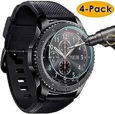 KIMILAR Samsung Gear S3 Classic/Frontier Schutzfolie, [4 Stück] gehärtetem Glas Screen Protector für Samsung Gear S3 Frontier/Classic Smartwatch - High Definition und Anti-Luftblasen