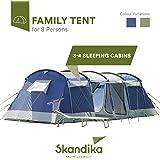 Skandika Montana 8 - Tente de Camping Familiale Tunnel - 700 x 280 cm - 8 Personnes