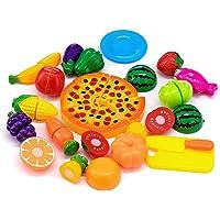 Giocattolo di taglio  24 pezzi Frutta Verdura Cucina Giocattolo Taglio Gioco