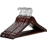 OM KRAFT SALEs Sturdy and Space Saving Wooden Coat Hanger,Garment Hanger,Salwar Kameez Hanger,Saree Suit Hanger for Indian Clothing Hanger (10)
