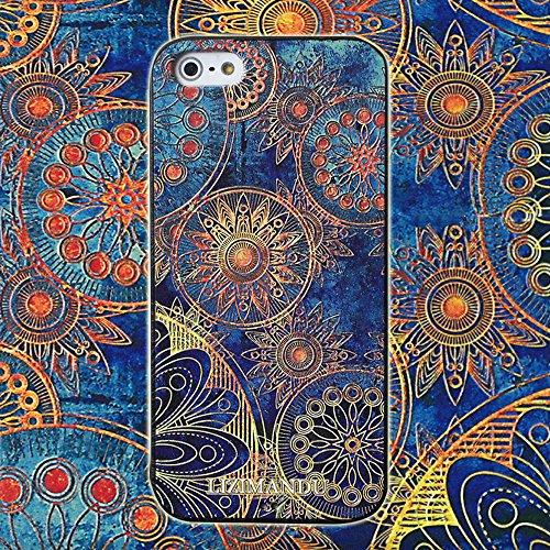 iPhone 5 Cover,iPhone 5s Cover,iPhone Se Cover,Lizimandu Creative 3D Schema UltraSlim TPU Copertura Della Cassa Del Custodia Case Tacsa Protettiva Shell per Apple iPhone 5/5s/se(Un Pene/Colorful Pizzl Fiore Blu/Blue Flower