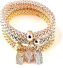 """Healing Accessories""""Certified"""" Natural Stones & 7 Chakra Reiki/Yoga Stylish Bracelet. Fashion Jewellery by Hot And Bold"""