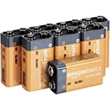 AmazonBasics 9 Volt Everyday Alkaline Batteries (8-Pack) - Appearance May Vary