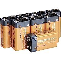 Amazon Basics Everyday Alkalibatterien, 9 V, 8 Stück (Aussehen kann variieren)
