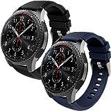 Th-some Correa para Samsung Gear S3 Frontier - Pulsera de Silicona para Galaxy Watch 46mm, Banda de Reloj de Silicona Suave D
