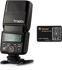 Godox Mini Thinklite TT350-F DSLR Camera Speedlite Hot Shoe TTL 2.4G 1/8000s Flash for Fuji Fujifilm SLR Mirrorless Digital Cameras with Tarion Card Case (Black)