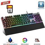 Nitropc NK10 Teclado Gaming Mecánico, Teclas Retroiluminadas ...