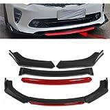 OEMC Carbon Fiber Look 4pcs Universal Car Front Bumper Lip Splitter Lip Diffuser Compatible with KIA For Optima K5 Rio…