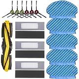 Set di panni per aspirapolvere Ecovacs Deebot Ozmo 920 950, 5 panni per mocio, 6 spazzole laterali, 1 spazzola a rullo, 3 fil
