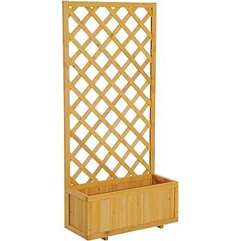 deuba gartenzaun rankhilfe rankgitter holzzaun pflanzengitter 200 cm zusammenfaltbar. Black Bedroom Furniture Sets. Home Design Ideas