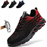 Safety Shoes for Men Women Steel Toe Cap Trainers Unisex Sneaker Industrial Shoes Breathable Lightweight Work Shoes