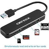 Cateck USB 3.0 Kartenleser, USB 3.0 Multi Kartenlesegerät mit 4 Slots für SDXC, SDHC, SD, CF, High-Speed CF (UDMA), MS, Micro SDXC, Micro SDHC, Micro SD
