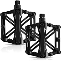 Bicycle Pedals, Mountain Cycling Bike Pedals Aluminum Anti-Slip Durable Sealed Bearing Axle for Mountain Bike BMX MTB…