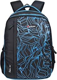Murano Enduro 36 LTR Casual Backpack with 3 Compartment and Polyester Water Resistance Backpack for Men and Women- Black