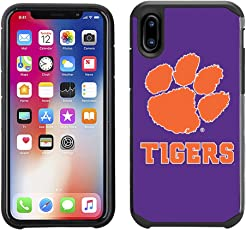 Prime Brands Group Textured Team Color Cell Phone Case for Apple iPhone X - NCAA Licensed Clemson University Tigers