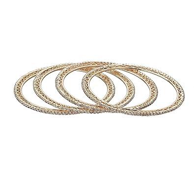 Buy Zeneme Designer American Diamond Gold Plated Bangles Jewellery
