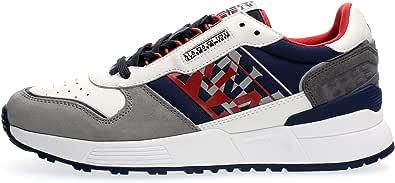 NAPAPIJRI Scarpe Sneakers Casual Uomo Grigio Blu Modello Sparrow. Primavera Estate 2021