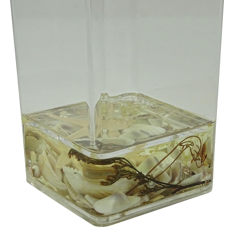 Seashell Bad Sammlung Trommel Glas Acryl Schwimmende Badezimmer Zubehör:  Amazon.de: Küche U0026 Haushalt