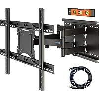 BONTEC Support TV Mural Orientable et Inclinable, Fixation Murale TV LED LCD Incurvée/Plate de 37-80 Pouces avec Double…