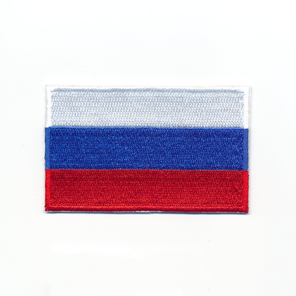 hegibaer 30 x 20 mm Russland Flagge Russische Föderation Aufnäher Aufbügler 0961 Mini