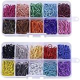 LOVIVER 600 Stuks Diverse Kleuren Veiligheidsspelden Kalebaspinnen Veiligheidsspelden Kiltnaald Steekmarkeerders