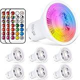 GU10 LED-lamp RGB + warm wit kleurverandering spot licht 6W, 540LM, RGBW dimbaar door afstandsbediening 50W equivalent haloge