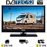 Gelhard GTV2021 LED TV 20 Zoll Wide Screen DVB/S/S2/T2/C, USB, 230/12 Volt