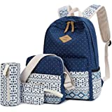 Ghime 4 in 1 Combo for Girls College Bag with Lunch Bag, Pencil Case & Pouch