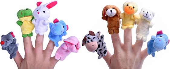 Anukriti Creations Set of 10 Animal Finger Puppet