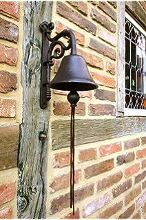 Ecosoul Glocke Aus Metall Mit Wandhalterung Metall Glocke Gußeisen