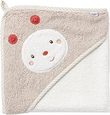 Fehn Kapuzenbadetuch/Bade-Poncho aus Baumwolle für Babys und Kleinkinder ab 0+ Monaten