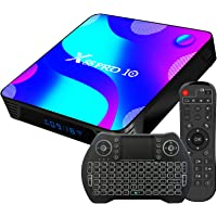 Box Android TV 4k, Android 11.0 3D [4GB 64GB] RK3318 Mini Clavier Gratuit